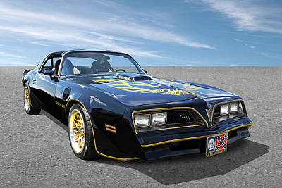 Smokey And The Bandit Trans Am Art Print