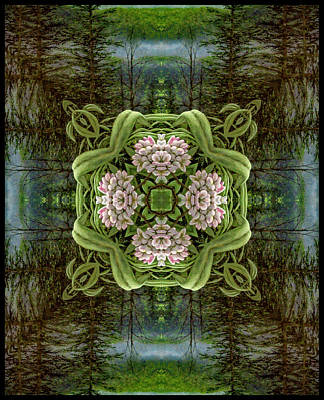 Wall Art - Digital Art - Smokey Mtns. Kaleidoscope by Ron Morecraft