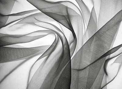 Abstract Photograph - Smoky Gauze Fabric by Jcarroll-images