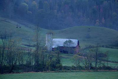 Photograph - Smoky Mountain Barn Autumn by David Chasey
