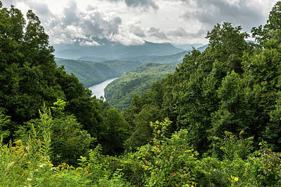 Lovely Lavender - Smoky Mountains Lakeview 1 by John Brueske