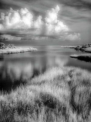 Photograph - Smooth Waters Bw by Dan Carmichael