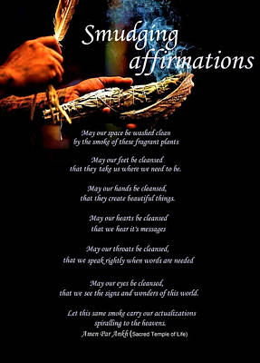 Digital Art - Smudging Affirmations by Adenike AmenRa