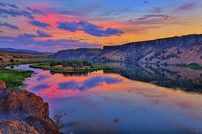 Photograph - Snake River Sunset by Greg Norrell
