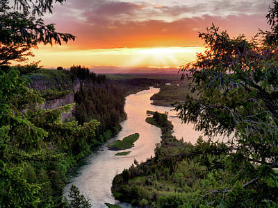 Photograph - Snake River Sunset by Leland D Howard