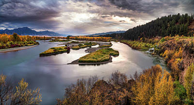 Photograph - Snake River Swan Valley by Leland D Howard