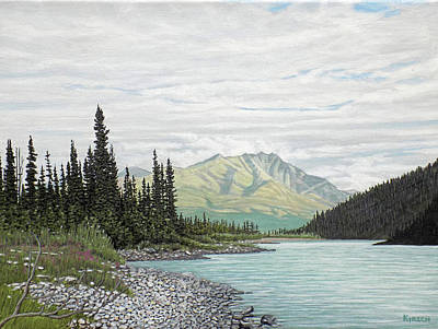 Painting - Snake River Yukon by Kenneth Kirsch