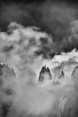 Photograph - Sneaking Thru The Clouded Alps II by Jon Glaser