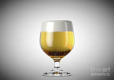 Beer Royalty-Free and Rights-Managed Images - Snifter Beer Pint by Allan Swart