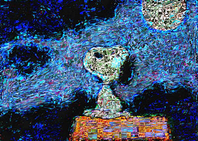 Digital Art - Snoopy Abstraction by Mario Carini
