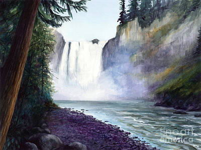 Painting - Snoqualmie Falls by Jacqueline Tribble