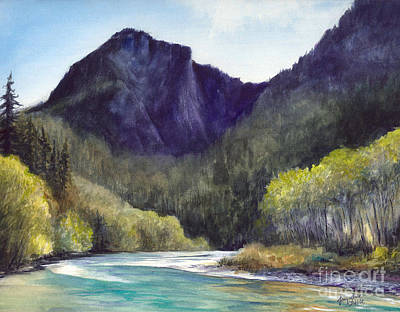 Painting - Snoqualmie River by Jacqueline Tribble