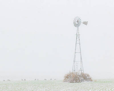 Photograph - Snow And Windmill 02 by Rob Graham