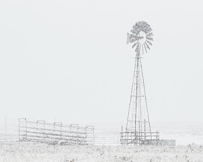 Photograph - Snow And Windmill 03 by Rob Graham