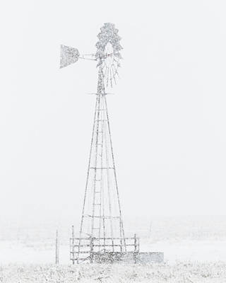 Photograph - Snow And Windmill 04 by Rob Graham