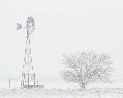 Photograph - Snow And Windmill 06 by Rob Graham