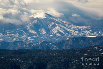 Photograph - Snow Approaching Sangre De Cristo by Steve Krull