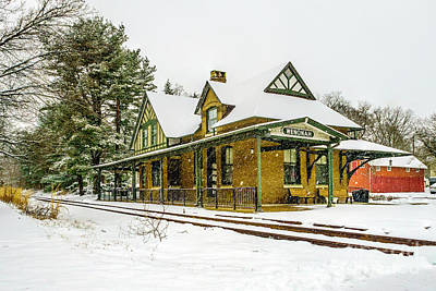 Photograph - Snow At Wenonah Station by Nick Zelinsky