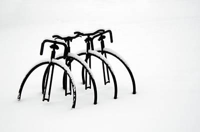 Snow Bikes Art Print by Dana Klein
