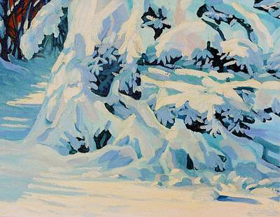 Painting - Snow Boughs by Phil Chadwick