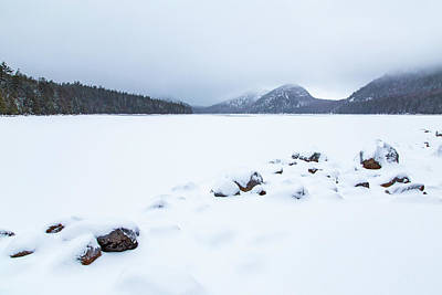 Photograph - Snow Cover Jordan Pond by Stefan Mazzola