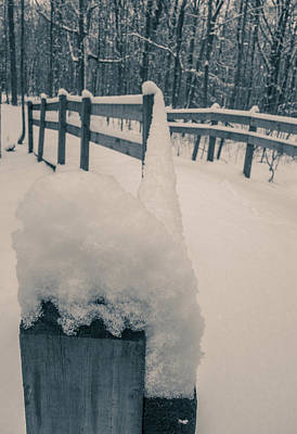 Photograph - Snow Covered Bridge by Dan Sproul