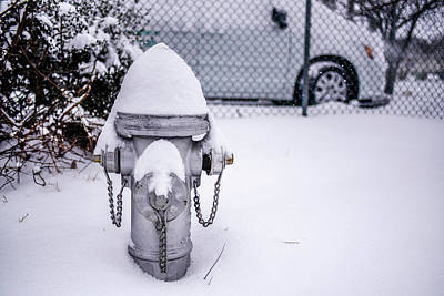Photograph - Snow Covered Fire Hydrant by Doug Ash