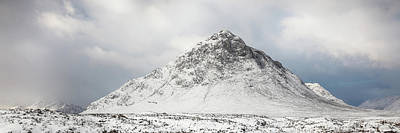 Photograph - Snow Covered Mountain - Glencoe by Grant Glendinning