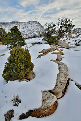 Photograph - Snow Covered Ridge In Colorado National Monument by Ray Mathis