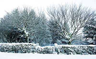 Photograph - Snow Covered Wall I by Helen Northcott