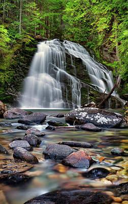 Photograph - Snow Creek Falls by Leland D Howard