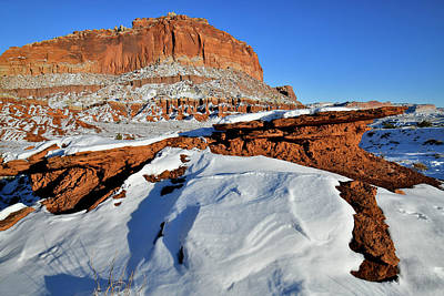 Photograph - Snow Drifts In Capitol Reef Np by Ray Mathis