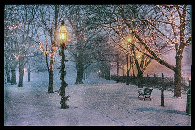 Photograph - Snow Falling On Salem Path by Jeff Folger