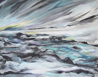 Painting - Snow Flow by Jean Batzell Fitzgerald