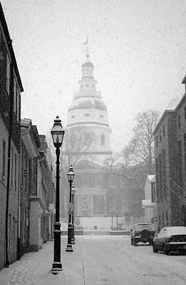 Photograph - Snow In Annapolis by Mark Duehmig