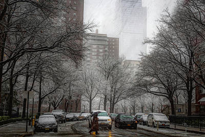 Photograph - Snow In The City by Alison Frank