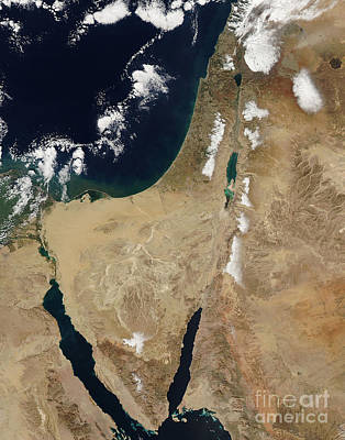 Photograph - Snow In The Middle East by NASA Goddard Space Flight Center