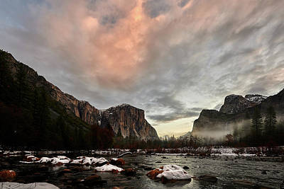 Photograph - Snow In Yosemite Valley by Jon Glaser