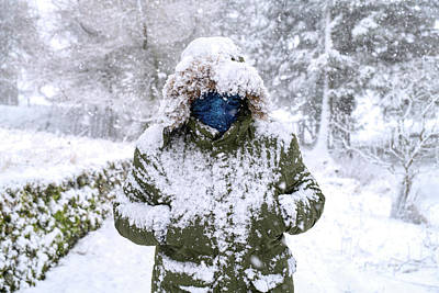 Photograph - Snow Man by Tim Gainey