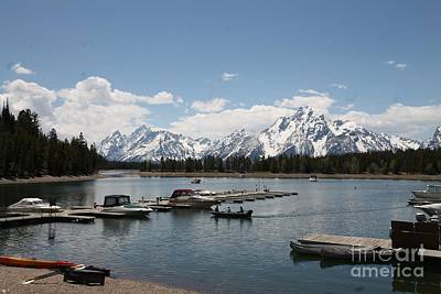Wall Art - Photograph - snow Mt over lake by Don Small Jr