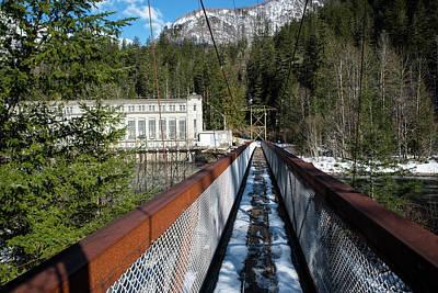 Photograph - Snow On Ladder Creek Bridge by Tom Cochran