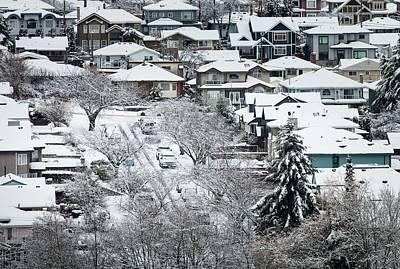 Photograph - Snow On Street by Juan Contreras