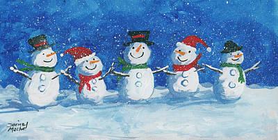 Painting - Snow Peeps by Darice Machel McGuire
