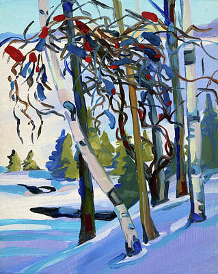 Painting - Snow by Phil Chadwick