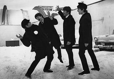 Photograph - Snowball Beatles by Central Press