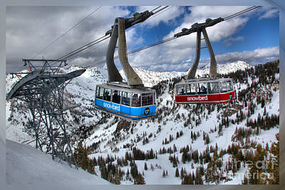 Photograph - Snowbird Trams T-shirt by Adam Jewell