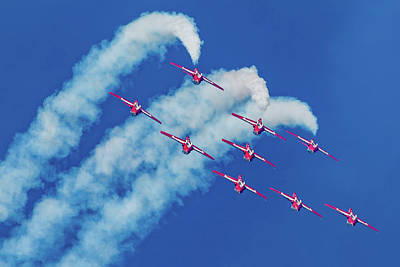 Photograph - Snowbirds Flying Upside Down by Donna Corless