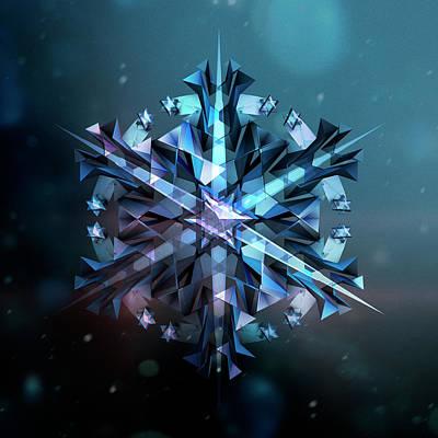 Snowflake 01 Art Print by Mina De La O