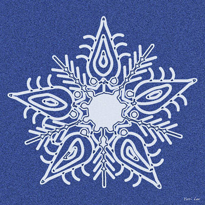Ethereal - Snowflake on Cloth by Yuri Lev