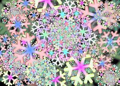 Digital Art - Snowflake One Remix by Vitaly Mishurovsky